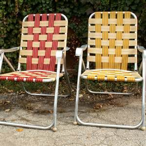 two high back webbed lawn chairs by lookingforyesterday on etsy
