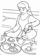 Coloring Pages Tea Disney Printable Teapot Cinderella Colouring Decorative Princess Sheets Adults Serving Para Printables Colorir Cartoon Desenhos Birthday Colors sketch template