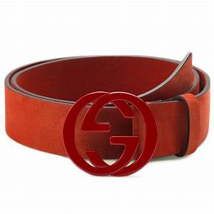 Fancy - Gucci Red Suede Leather Belt