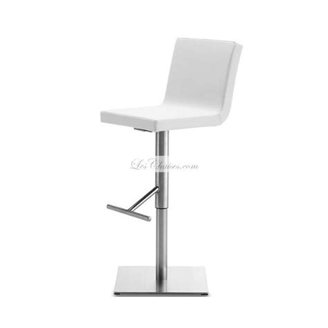 tabouret de bar pied carre tabouret de bar blanc r 233 glable