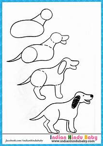 Dog step by step drawing for kids – Indian hindu baby