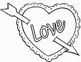 Hearts Coloring Colouring Pages sketch template