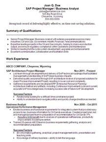 Sap Functional Analyst Resume by Doc 700906 Business Management Resume Skills Business
