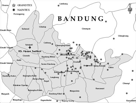 map  bandung indonesia showing  geographic