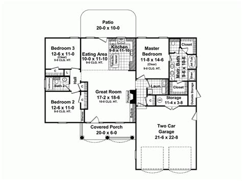traditional style house plan  beds  baths  sqft plan   bungalow floor plans