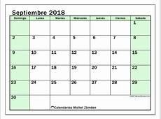 Calendarios septiembre 2018 DS Michel Zbinden ES