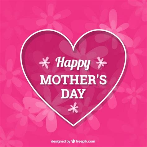 big heart mothers day background