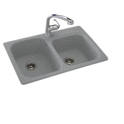 swanstone kitchen sinks home depot swan dual mount composite 33x22x9 in 1 bowl