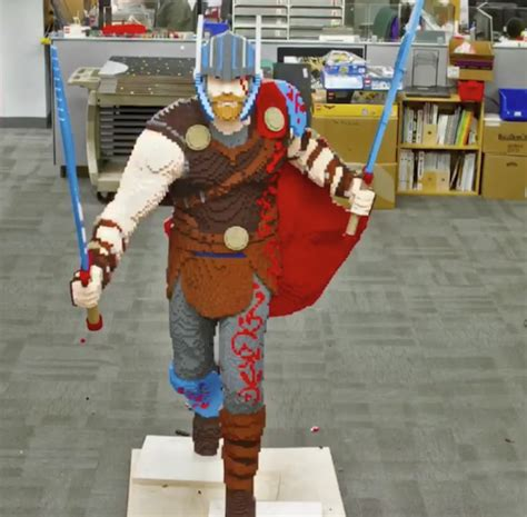 Watch Lego Master Builders Construct Life Sized 'thor