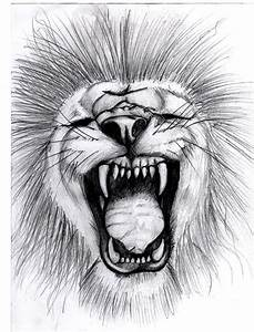 a Lion Roaring by soul-courageous on DeviantArt
