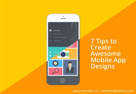 Tips For Design Home App by 7 Tips To Create Awesome Mobile App Designs Smarther