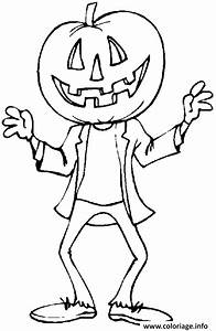Tete De Citrouille Pour Halloween : coloriage un garcon deguise avec une tete de citrouille pour halloween dessin ~ Melissatoandfro.com Idées de Décoration