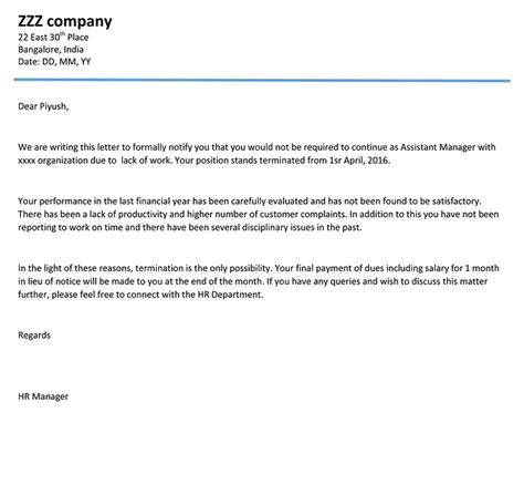 employment termination letter word template sample vatansun medical resume