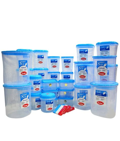 kitchen plastic storage chetan polyproplene food container set of 41 60 buy 2442