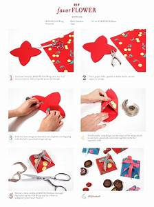 Easy to make favour boxes from gift wrap, hole punch and