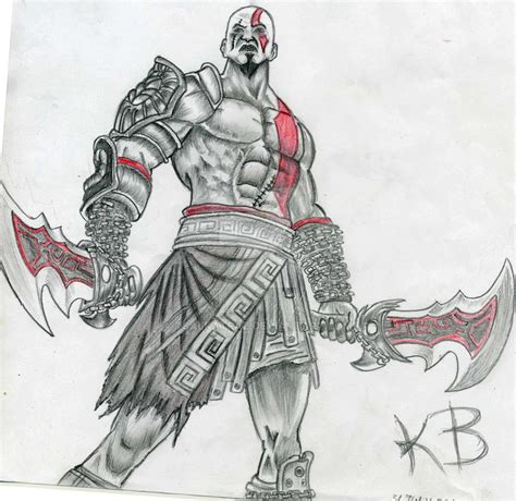 Kratos God Of War By Tsalkatraz On Deviantart