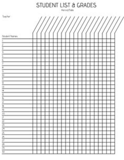 printable record keeping forms classroom
