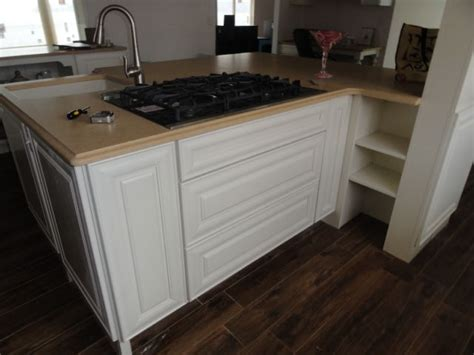 prep sink in island custom kitchen island with prep sink and cook top white