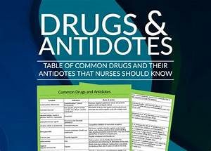 Hospital Drug Chart Uk List Of Common Antidotes Nurses Should Know Nurseslabs