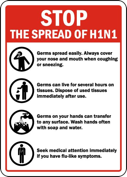 Stop Spread Of Swine Flu Sign By Safetysignm  D5820. Horner's Syndrome Signs. Ocd Symptoms Signs. Dlj Ral Signs. Degree Signs. Gangster Signs Of Stroke. Strep Back Signs. Library Hour Signs. High School Signs