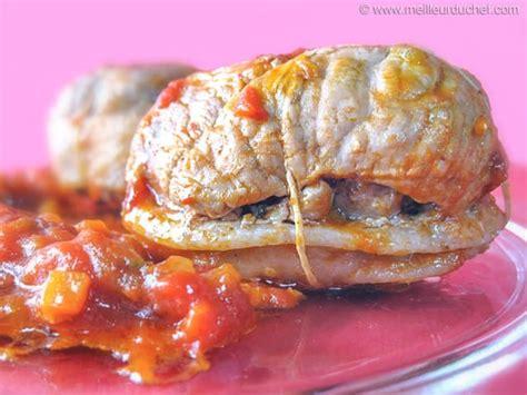 cuisiner paupiettes de veau paupiette de veau à la tomate fiche recette