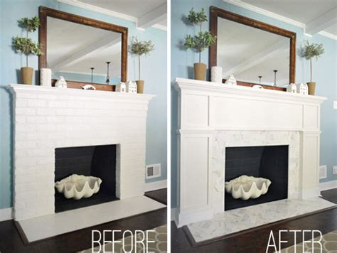 And After Fireplace Makeovers