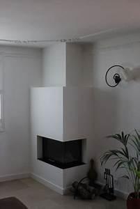 Cheminée Contemporaine Foyer Fermé : chemin e contemporaine d 39 angle toulouse foyer ferm ~ Melissatoandfro.com Idées de Décoration