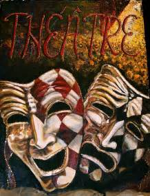 Comedy Tragedy Masks Painting