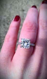2 carat cushion cut engagement rings cushion cut cushion cut ring 2 carat