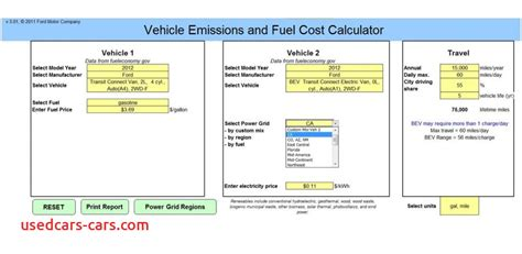 fuel cost calculator  cars