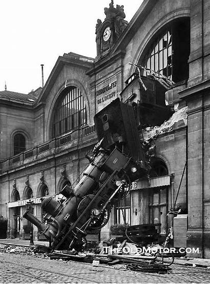 Paris Train Wreck 1895 France Montparnasse Station