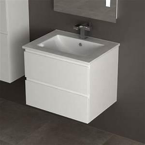 Meuble 60 Cm De Large : meuble cardo laque blanc 60 cm ~ Teatrodelosmanantiales.com Idées de Décoration
