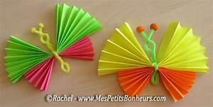 Bricolage Facile En Papier : bricolage papillons en accordeons de papier galerie d ~ Mglfilm.com Idées de Décoration