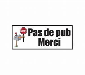 Pas De Pub Merci : autocollant stop pub stop pub autocollant pas de pub ~ Dailycaller-alerts.com Idées de Décoration