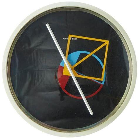 geometric wall clock  george nelson  howard miller