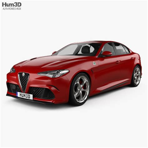 All Alfa Romeo Models by Alfa Romeo Giulia Quadrifoglio 2016 3d Model Hum3d
