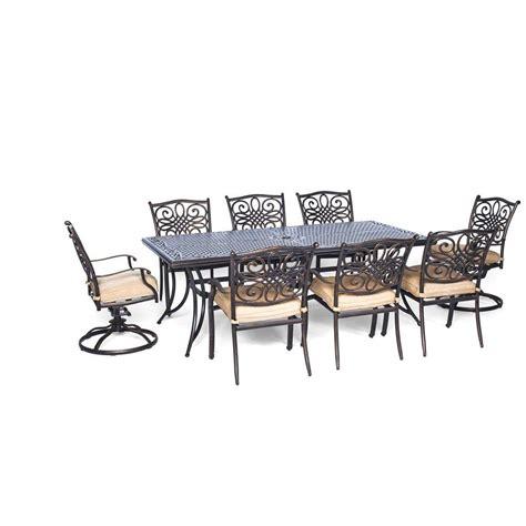 hanover traditions 9 rectangular patio dining set