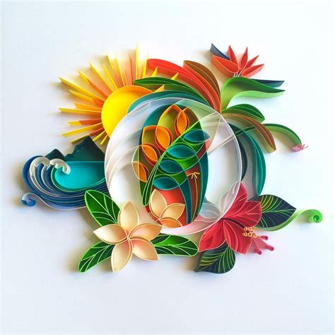 colorful quilled typography  sabeena karnik colossal