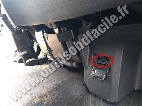 obd connector location  mercedes accelo