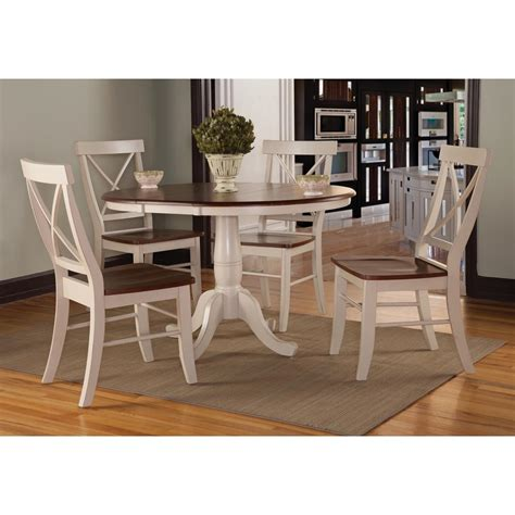 x back dining chairs international concepts antique almond and espresso wood x 1680