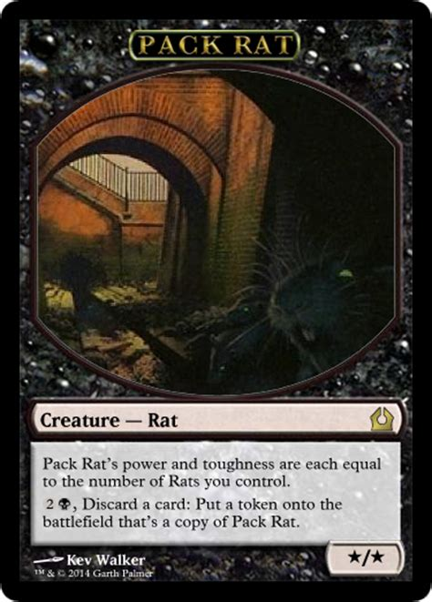 pack rat deck mtg pack rat token by shinobigarth on deviantart