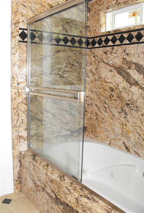 decorative stone marble  granite pattern tub shower