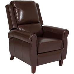 best choice products leather recliner chair push back home