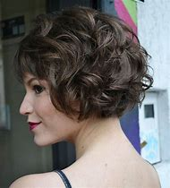 Short Curly Bob Hairstyle with Bangs