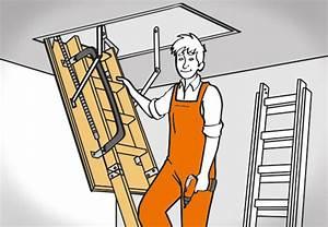 Dachbodentreppe Selber Bauen : bodentreppe einbauen in 6 einfachen schritten mit obi ~ Lizthompson.info Haus und Dekorationen
