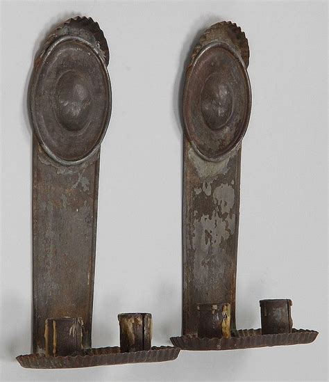Tin Candle Sconces - 17 best images about primitive early lighting yummmm on