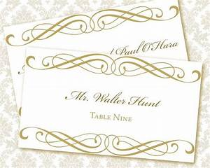 9 best images of printable wedding place card templates With templates for place cards for weddings