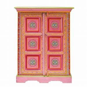 cabinet de rangement en manguier massif multicolore l 72 With maison du monde cabinet