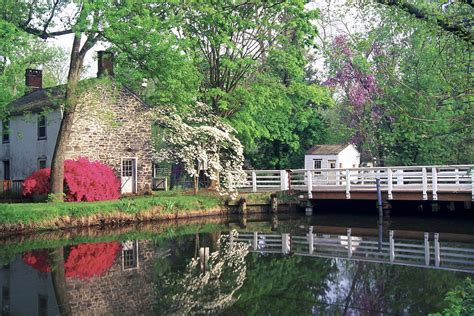 Sign up for free today! Spring Scene At The Griggstown Bridge Photograph by George Oze