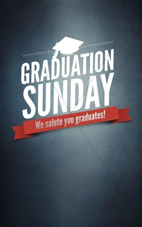 graduation sunday program cover template